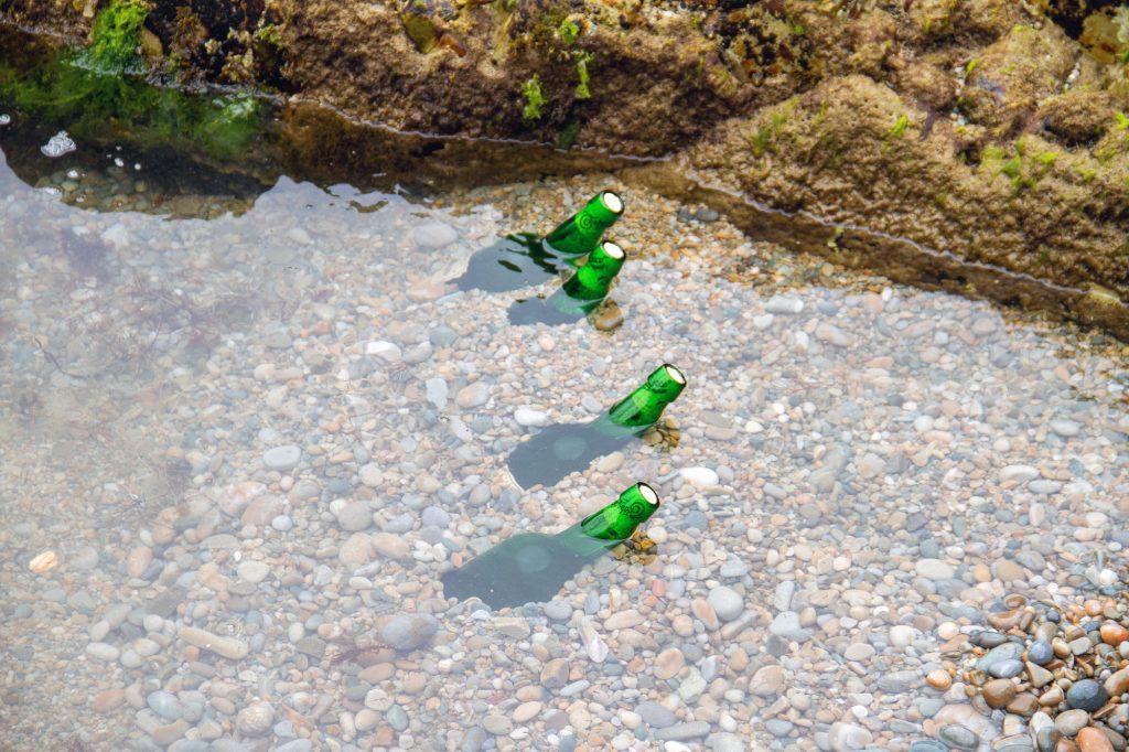 Sidra Bottles cooling in Atlantic