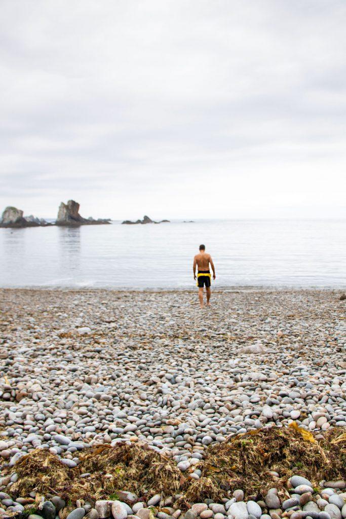 Swimming in Asturias