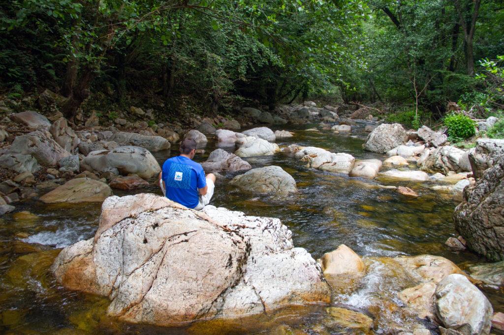 Hiker Taking a Break Asturias