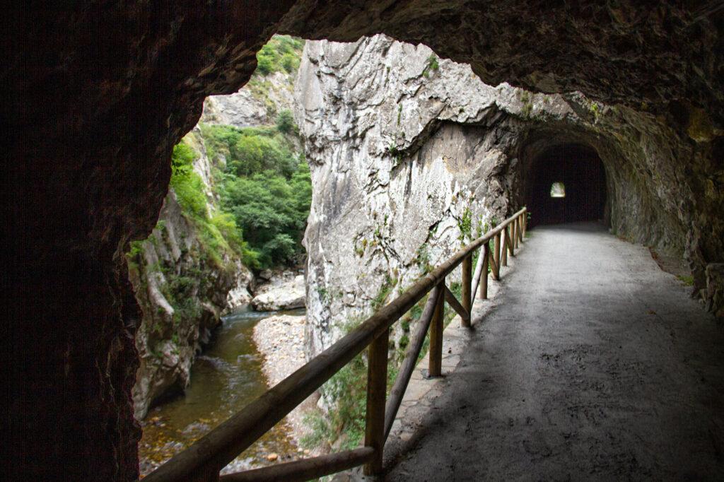Senderismo Senda del Oso Asturias Tunnel