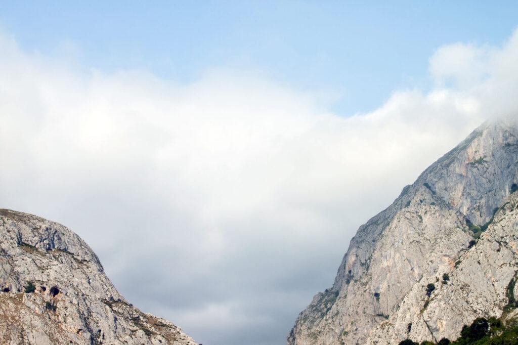 Cloudy Asturias Mountains