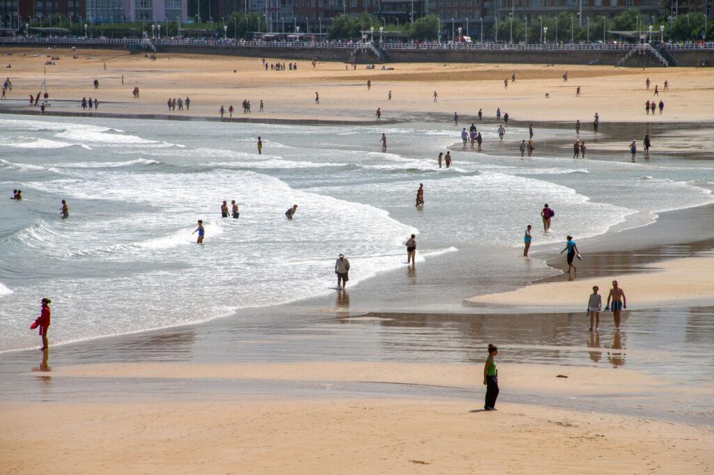 Beaches Summer in Gijon Asturias