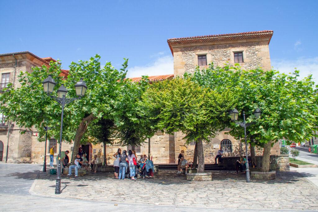 Plazas of Gijon Asturias