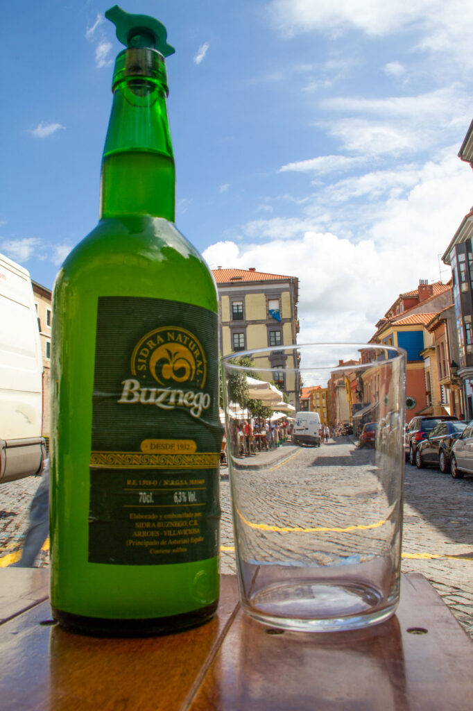 Drinking Sidra in Gijon Asturias