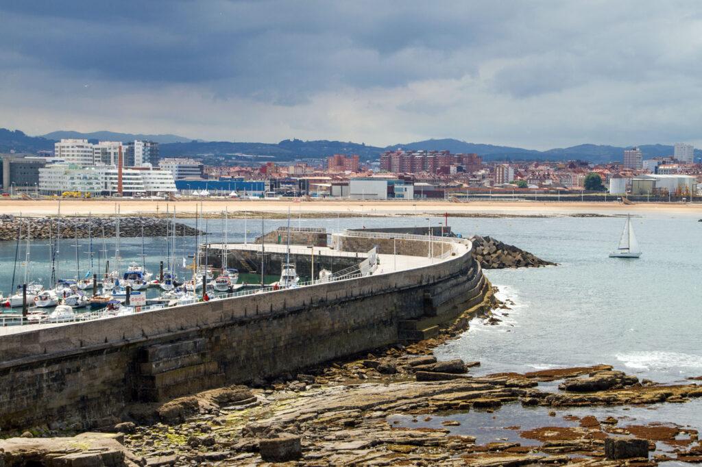 Sail Boat Harbor Gijon Asturias