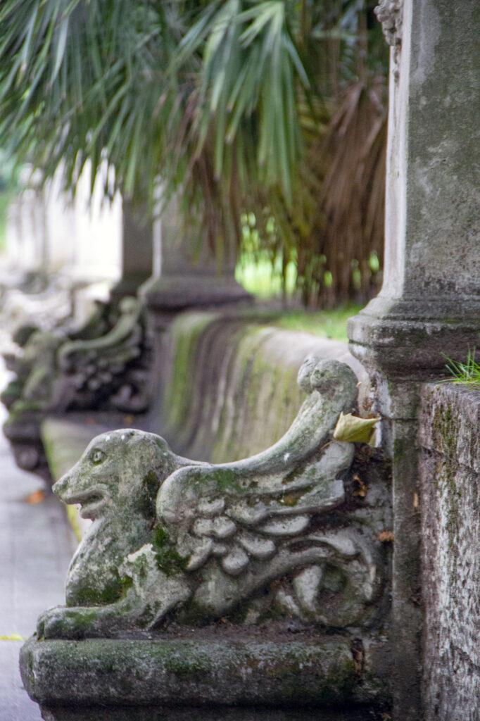 Stone Bench Dragon Oviedo Asturias
