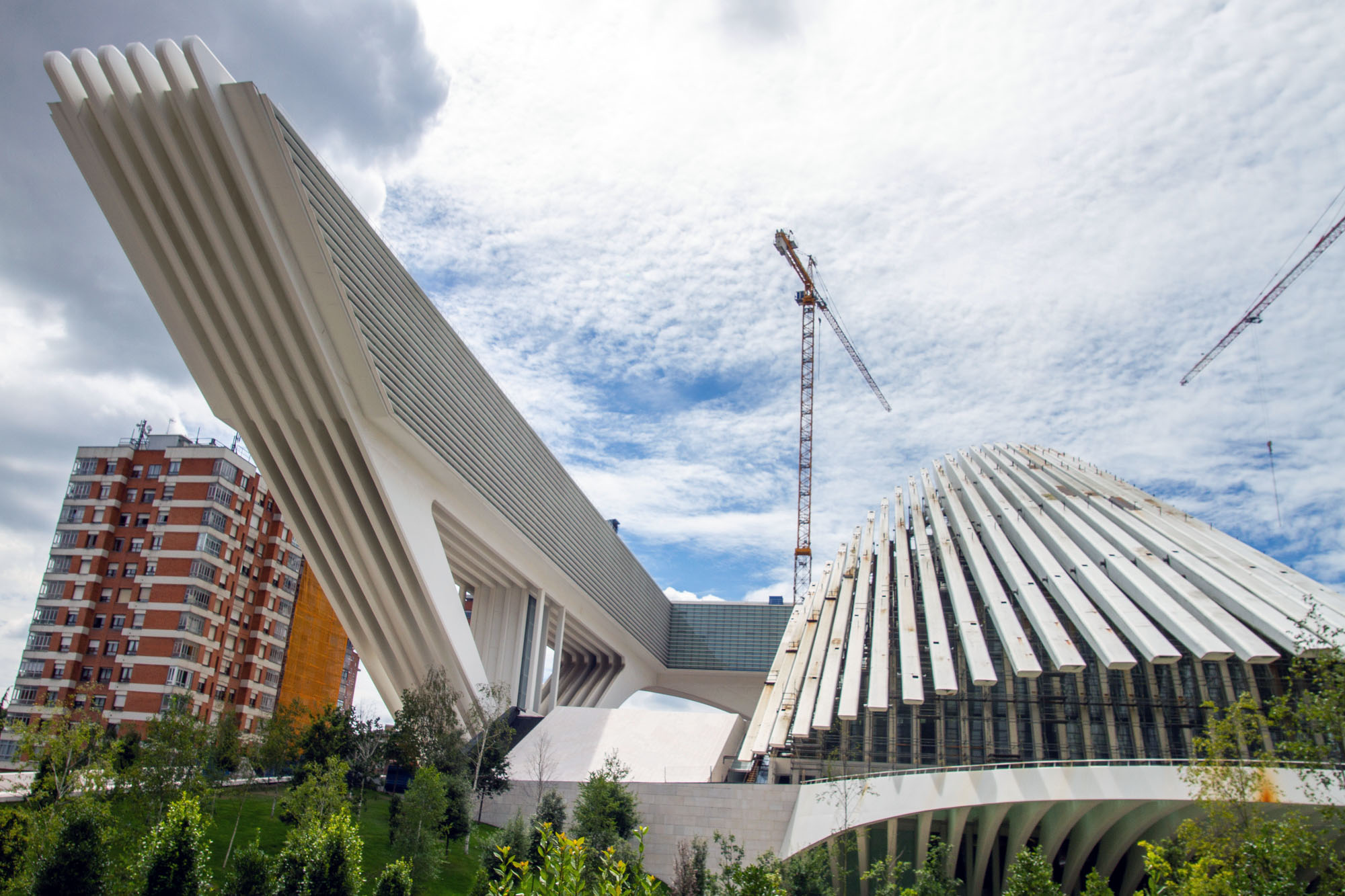 Construction Calatrava Palacio Congreso Oviedo