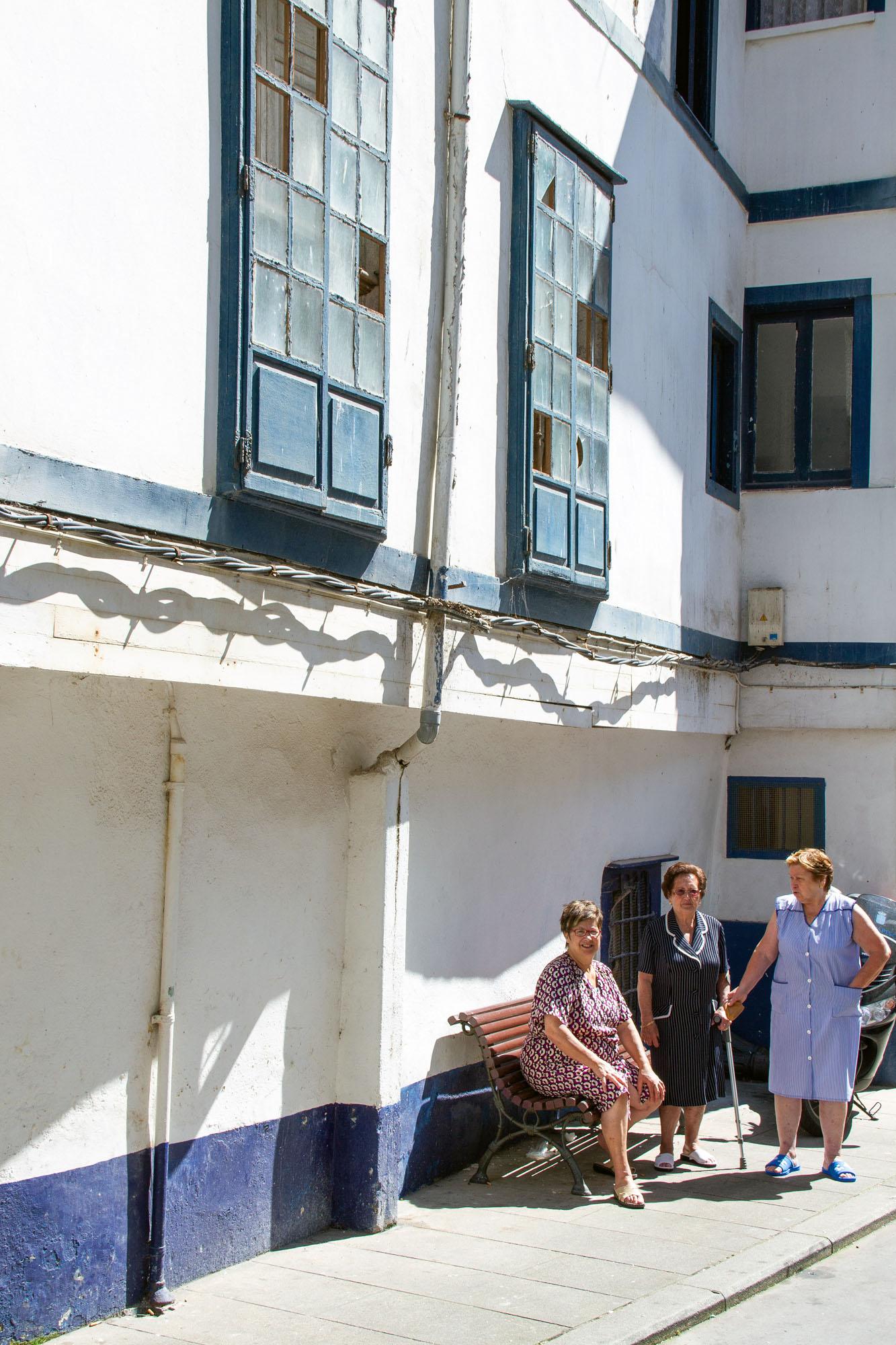 Three women in Cudillero Asturias