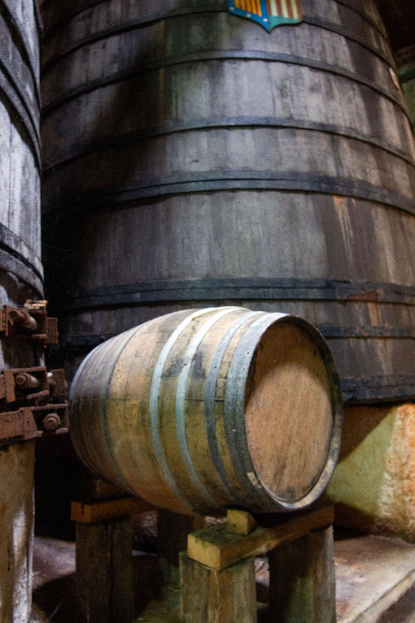 Small Cider Wood Barrel