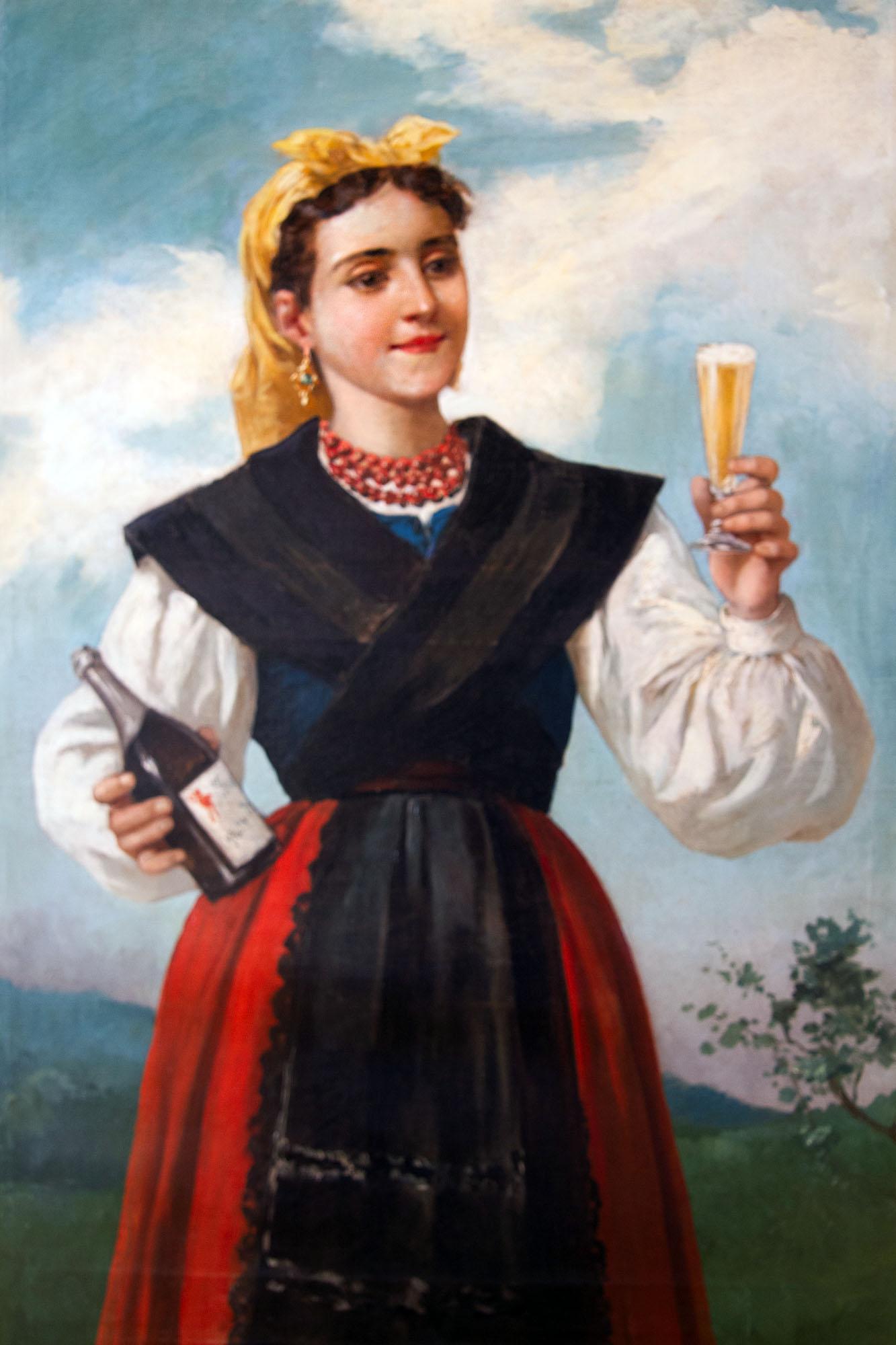 Asturias Woman Drinking Sparkling Cider