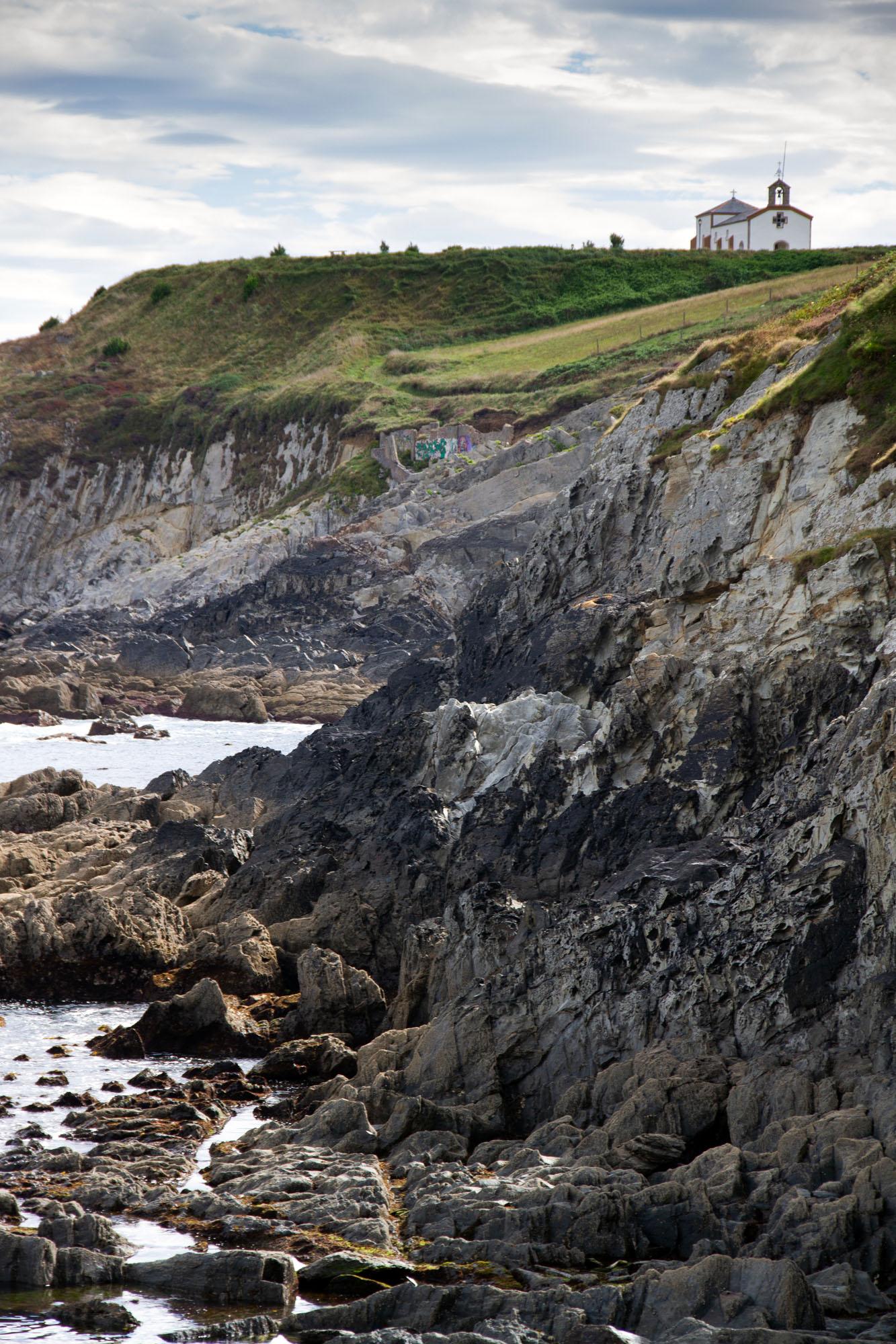 Church and cliff Asturias