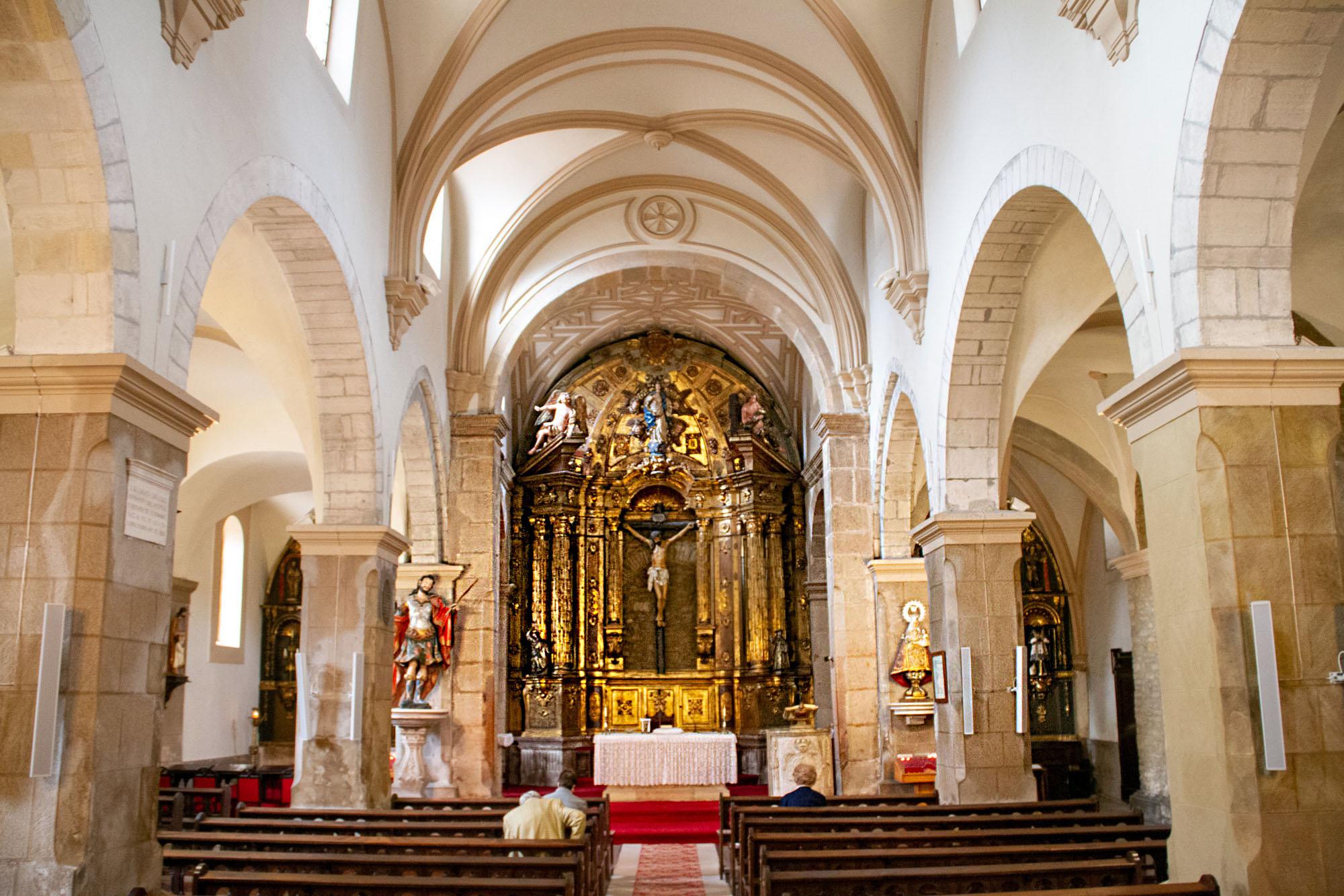 Inside San Tirso church Oviedo